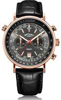Rotary Watches Rotary Mens Rose Gold Pvd Henley Watch