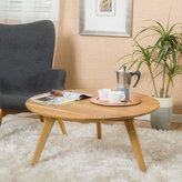 Christopher Knight Home Canton Round Acacia Wood Coffee Table