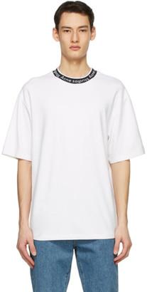 Acne Studios White Jacquard Logo T-Shirt