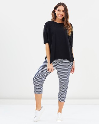 Lincoln St - Women's White Cropped Pants - Crop Relaxed Pants - Size One Size, 8 at The Iconic