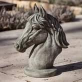 Campania Spirit Horse Garden Statue in Alpine Stone
