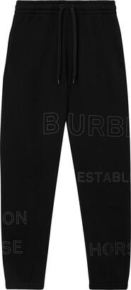 Burberry Horseferry print track pants