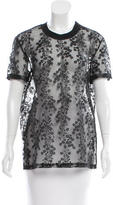 Carven Lace Short Sleeve Top w/ Tags