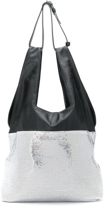 Paco Rabanne Chainmail And Leather Tote Bag