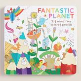 Fantastic Planet Wood Free Colored Pencils Set of 24