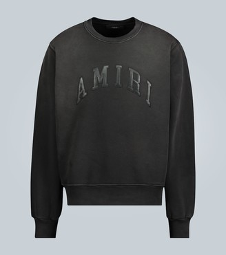 Amiri Embossed leather logo sweatshirt