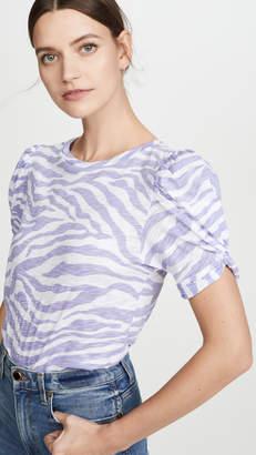 Goldie Zebra Print Mutton Sleeve Tee
