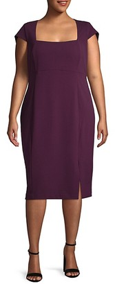 Calvin Klein Plus Cap-Sleeve Sheath Dress