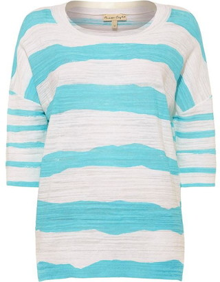 Phase Eight Poppy Painterly Printed Stripe