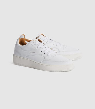 Reiss Grendon - Leather Trainers in White