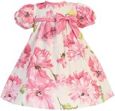 Lito Baby Girls Short Sleeve Floral Cotton Print Easter Dress 18-24M