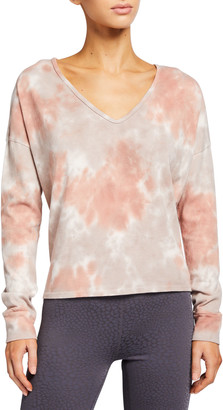 Beyond Yoga Cloud Dye Open-Neck Pullover