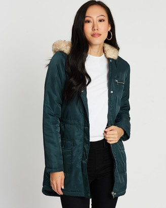 Dorothy Perkins Luxe Faux Fur Parka