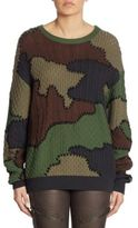 Moschino Wool Camouflage Sweater