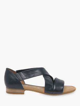 Gabor Sweetly Wide Fit Leather Flat Sandals