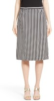 Marc Jacobs Women's Stripe Bonded Pencil Skirt