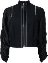 3.1 Phillip Lim zipped jacket - women - Spandex/Elastane/Acetate/Viscose - 2
