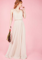 Jenny Yoo The Essence of Enchantment Maxi Dress in Taupe in 14