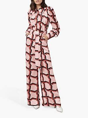 Richmond Finery Deco Print Jumpsuit, Pink