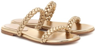 Gianvito Rossi Exclusive to Mytheresa Marley metallic leather slides