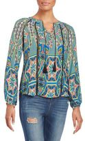 Collective Concepts Printed Peasant Top