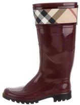 Burberry Nova Check-Trimmed Rain Boots