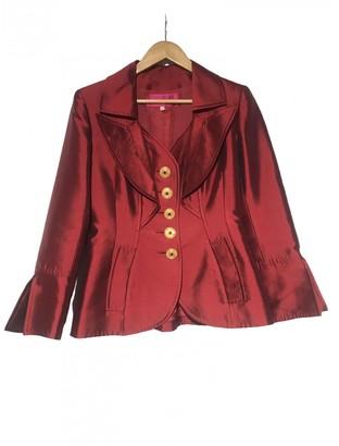 Christian Lacroix Burgundy Silk Jacket for Women Vintage