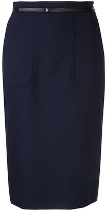 Altuzarra Casey belted pencil skirt
