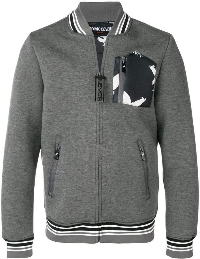 Roberto Cavalli zip-up bomber jacket