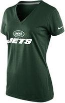 Nike Women's Short-Sleeve New York Jets V-Neck T-Shirt
