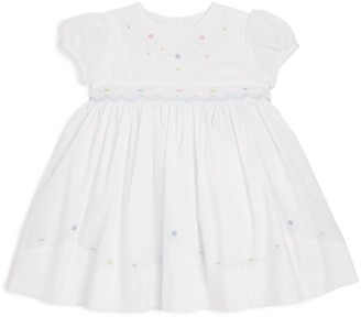 Sarah Louise Floral Embroidery Smock Dress (3-18 Months)