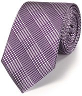 Charles Tyrwhitt Purple silk classic Prince of Wales check tie