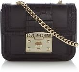 Love Moschino Moc croc small crossbody bag