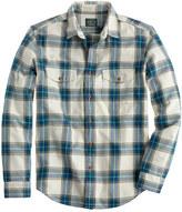J.Crew Flannel shirt in faded chino herringbone plaid