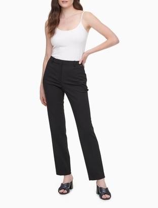 Calvin Klein Slim Fit Ponte Knit Ankle Pants