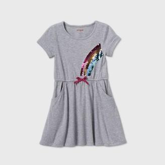Cat & Jack Girls' Flip Sequin Rainbow Knit Dress - Cat & JackTM