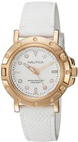 Nautica Women's 'NST 800' Quartz Stainless Steel and Silicone Casual Watch, Color:White (Model: NAD13003L)