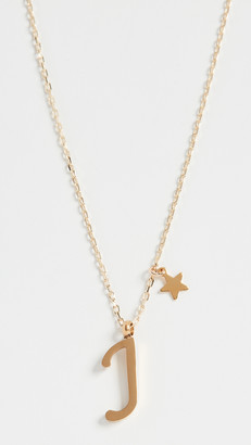 Shashi Letter Pendant with Star Charm