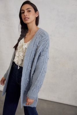 Anthropologie Nuria Textured Cardigan By in Brown Size XS