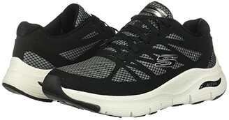 Skechers Arch Fit (Black/White) Women's Shoes