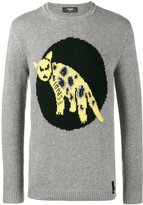 Fendi Jaguar Knitted Jumper - men - Wool - 44
