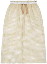 No.21 net layered midi skirt