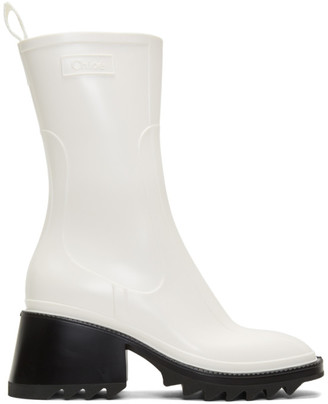 Chloé White Betty Rain Boots
