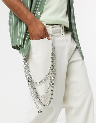 Uncommon Souls multi link jean chain in silver