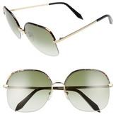 Victoria Beckham Women's Windsor 60Mm Gradient Lens Square Sunglasses - Amber Tortoise