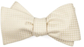 Tie Bar Be Married Checks Light Champagne Bow Tie