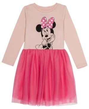 Disney Toddler Girls Minnie Mouse Dress with Mesh Skirt