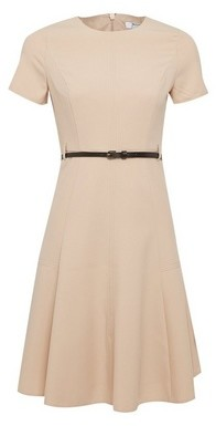 Dorothy Perkins Womens Dp Petite Stone Short Sleeve Fit And Flare Dress
