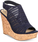 American Rag Charlize Perforated Platform Wedge Sandals, Created for Macy's Women's Shoes
