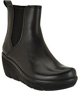 Clarks Artisan Leather Wedge Boots - Clarene Surf